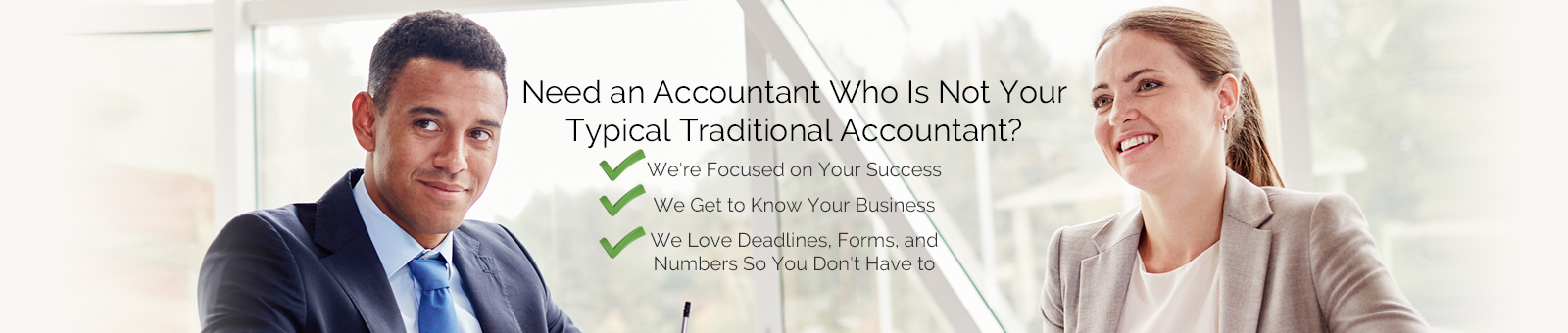 A business owner and Accountant talking